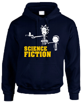 SCIENCE FICTION HOODIE - INSPIRED BY RICK AND MORTY PULP FICTION